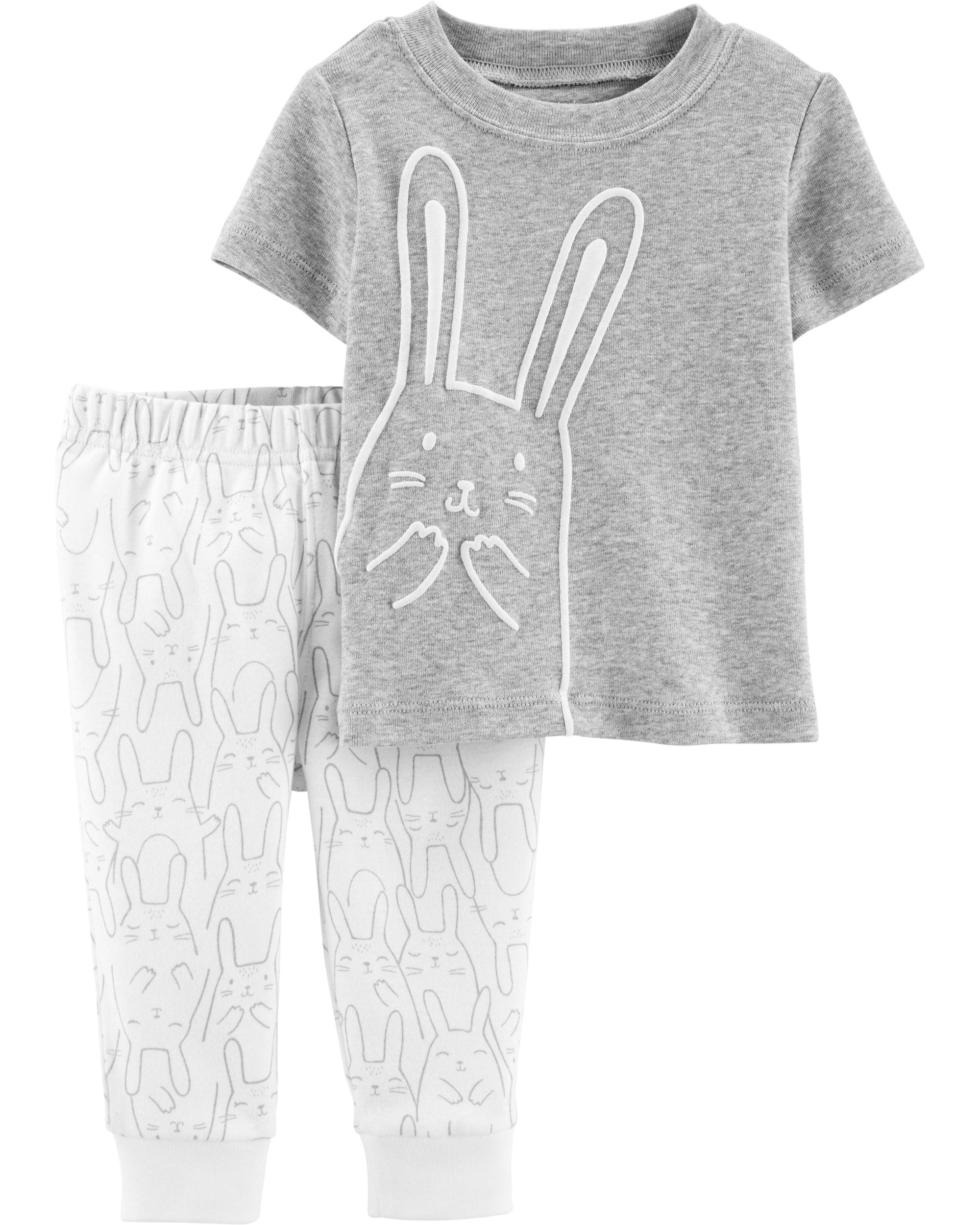 Carter's Set 2 Piese Iepuraș pantaloni & tricou 100% bumbac imagine