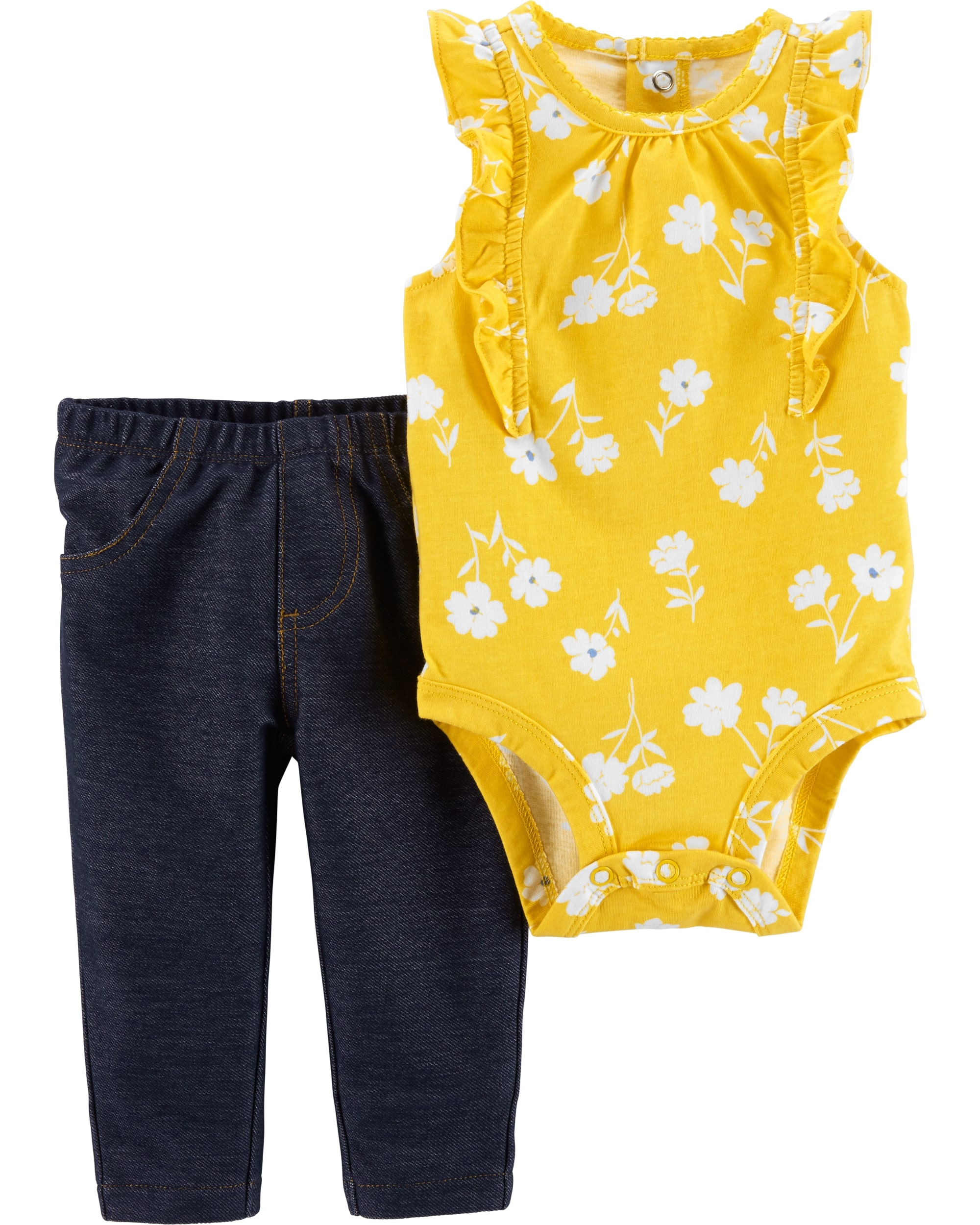 Carter's Set 2 Piese Floral body & pantaloni imagine
