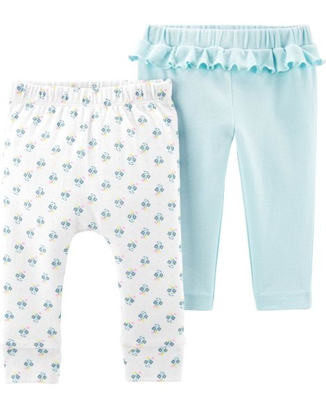 Carter's Set 2 piese pantaloni floral/uni imagine