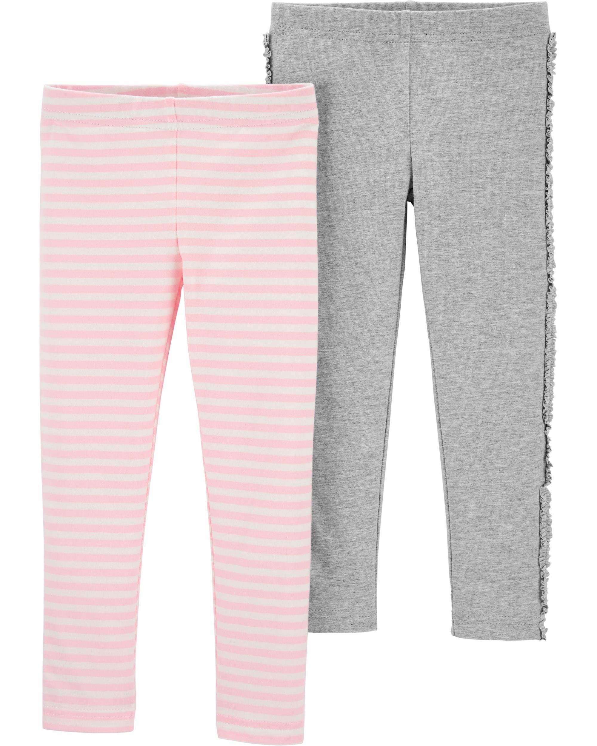 Carter's Set 2 pantaloni gri/roz imagine