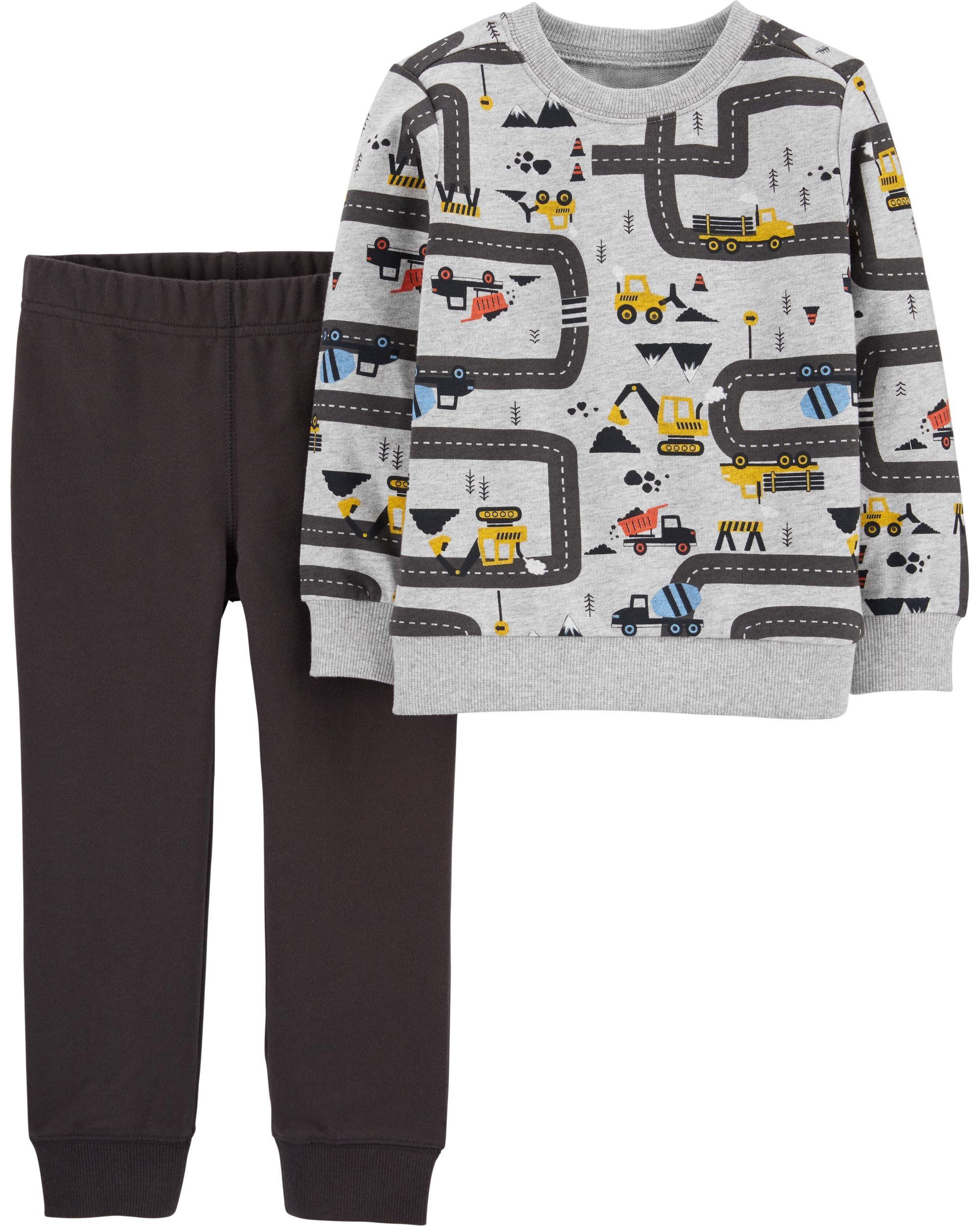 Carter's Set 2 piese bluză & pantaloni masini imagine