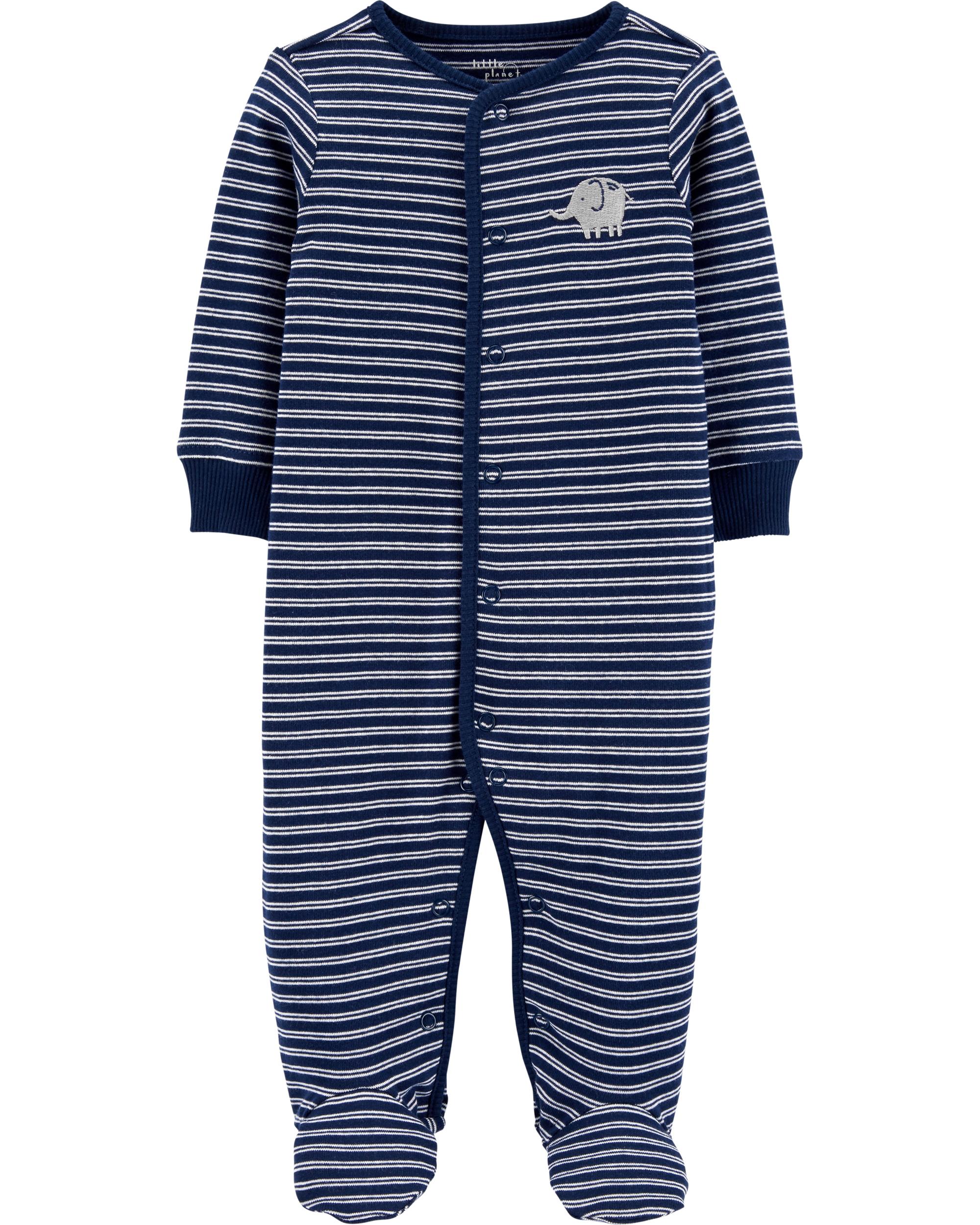 Carter's Pijama Elefant 100% Bumbac Organic imagine