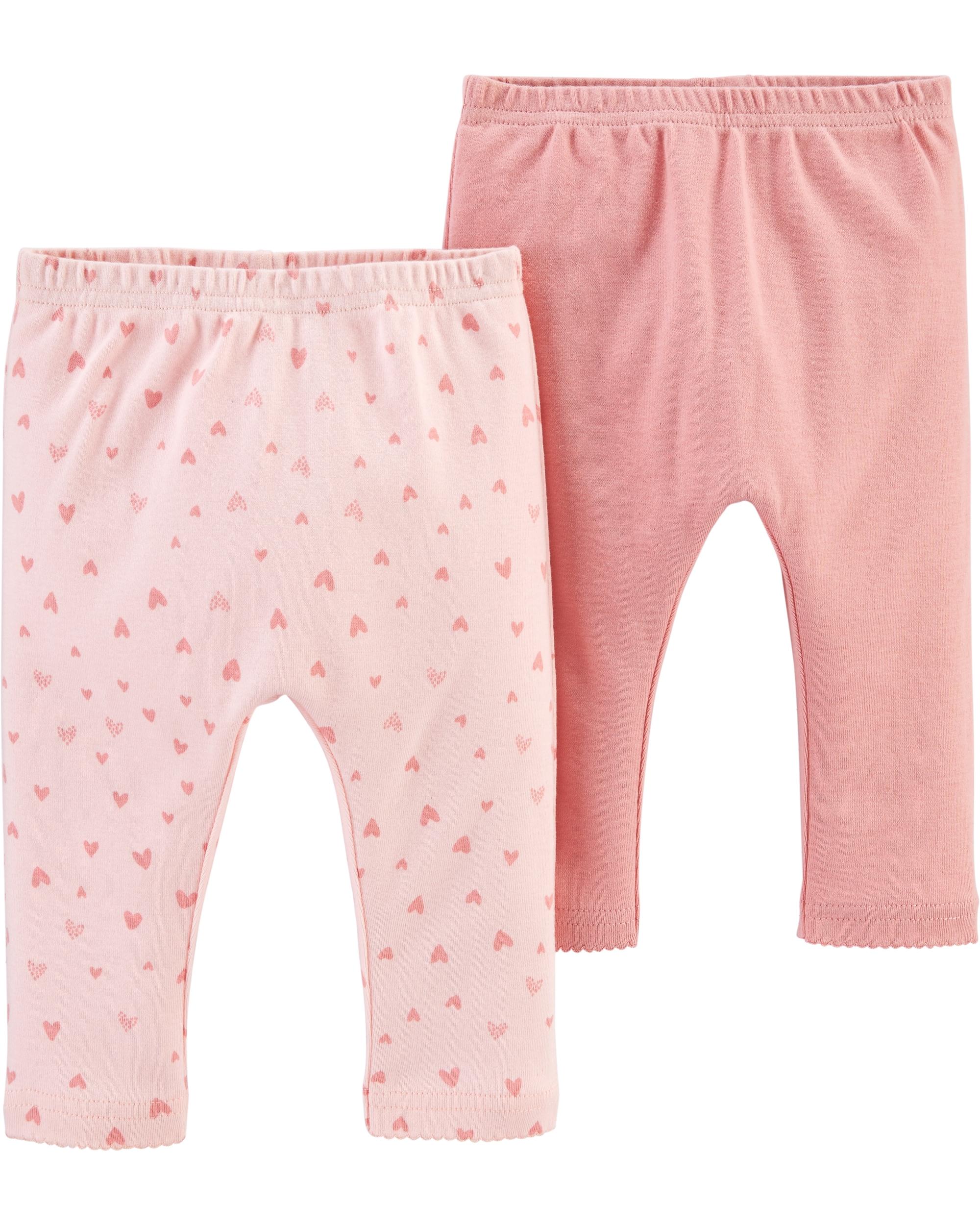 Carter's Set 2 piese pantaloni roz 100% Bumbac Organic imagine