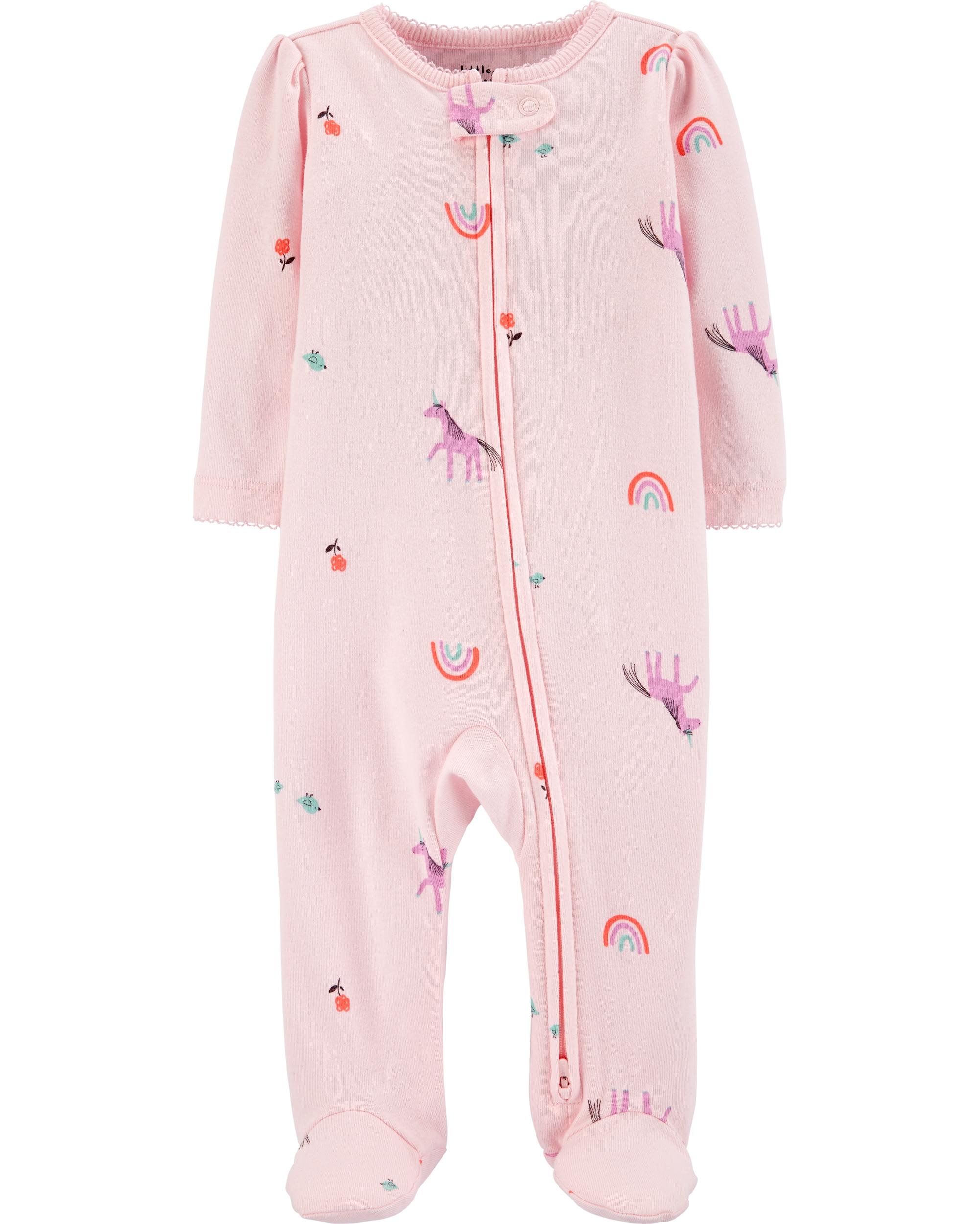 Carter's Pijama cu fermoar reversibil Unicorn 100% Bumbac Organic imagine