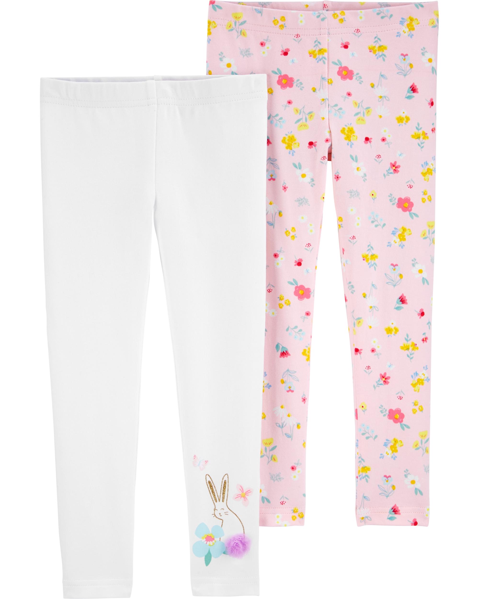 Carter's Set 2 pantaloni Flori imagine