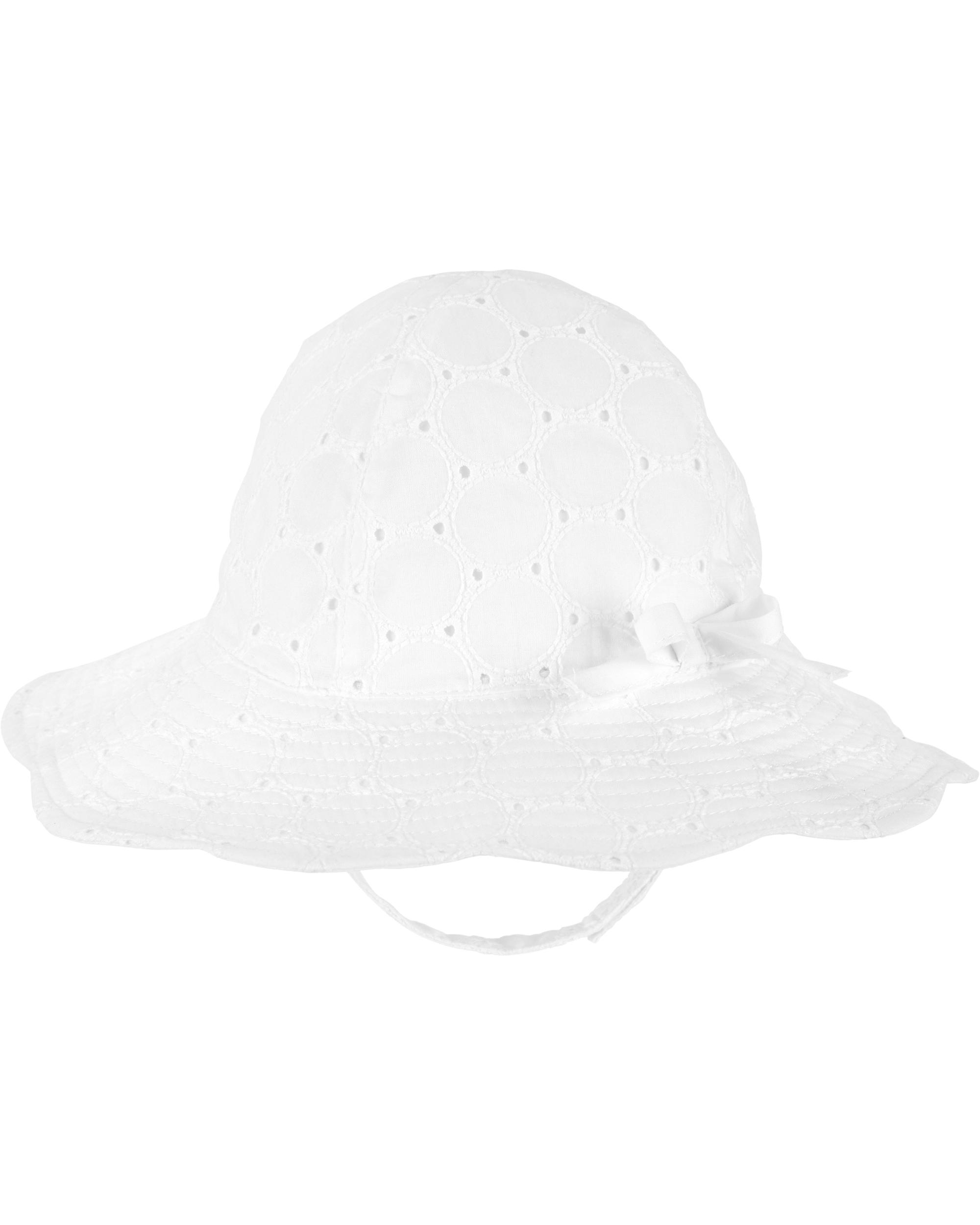 Carter's Pălărie de soare alba cu fundita imagine