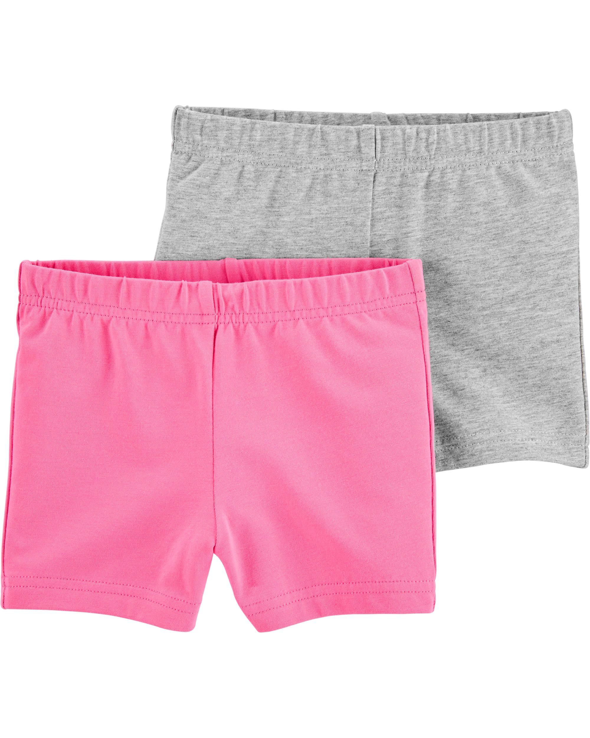 Carters Set 2 piese pantaloni scurti roz si gri imagine