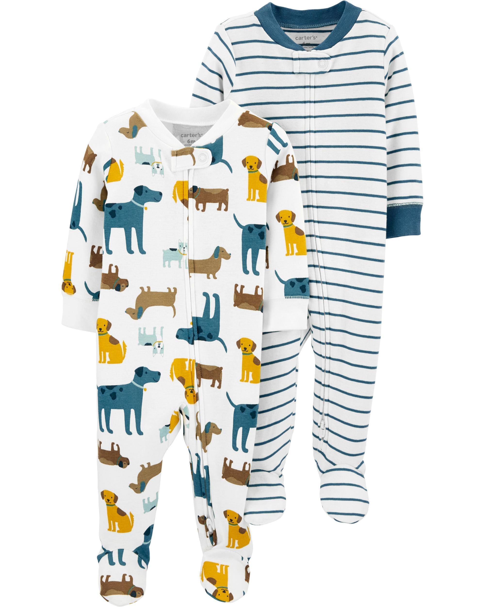 Carter's Set 2 piese pijamale bebe Catei imagine