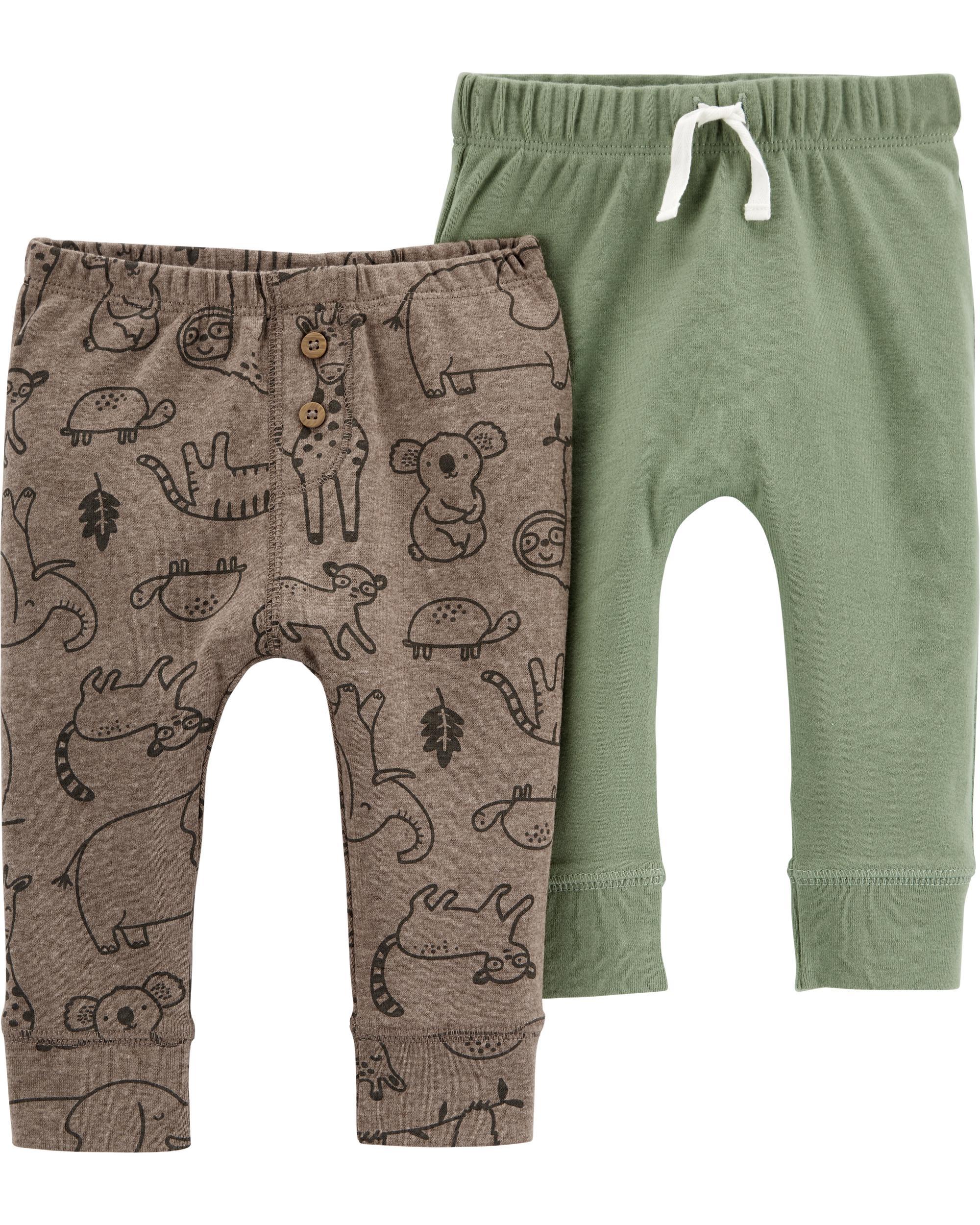 Carter's Set 2 piese pantaloni Animale imagine