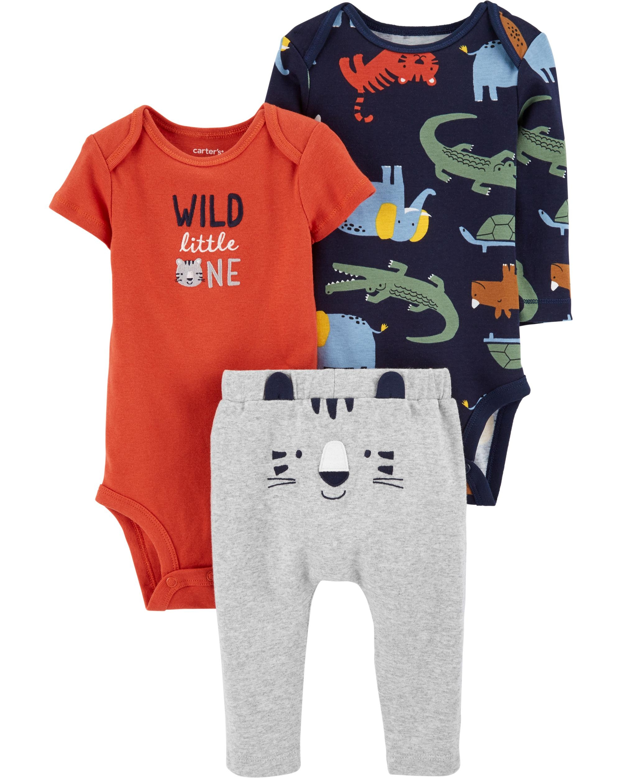 Carter's Set 3 Piese bebelus 2 body si pantaloni Tigru imagine