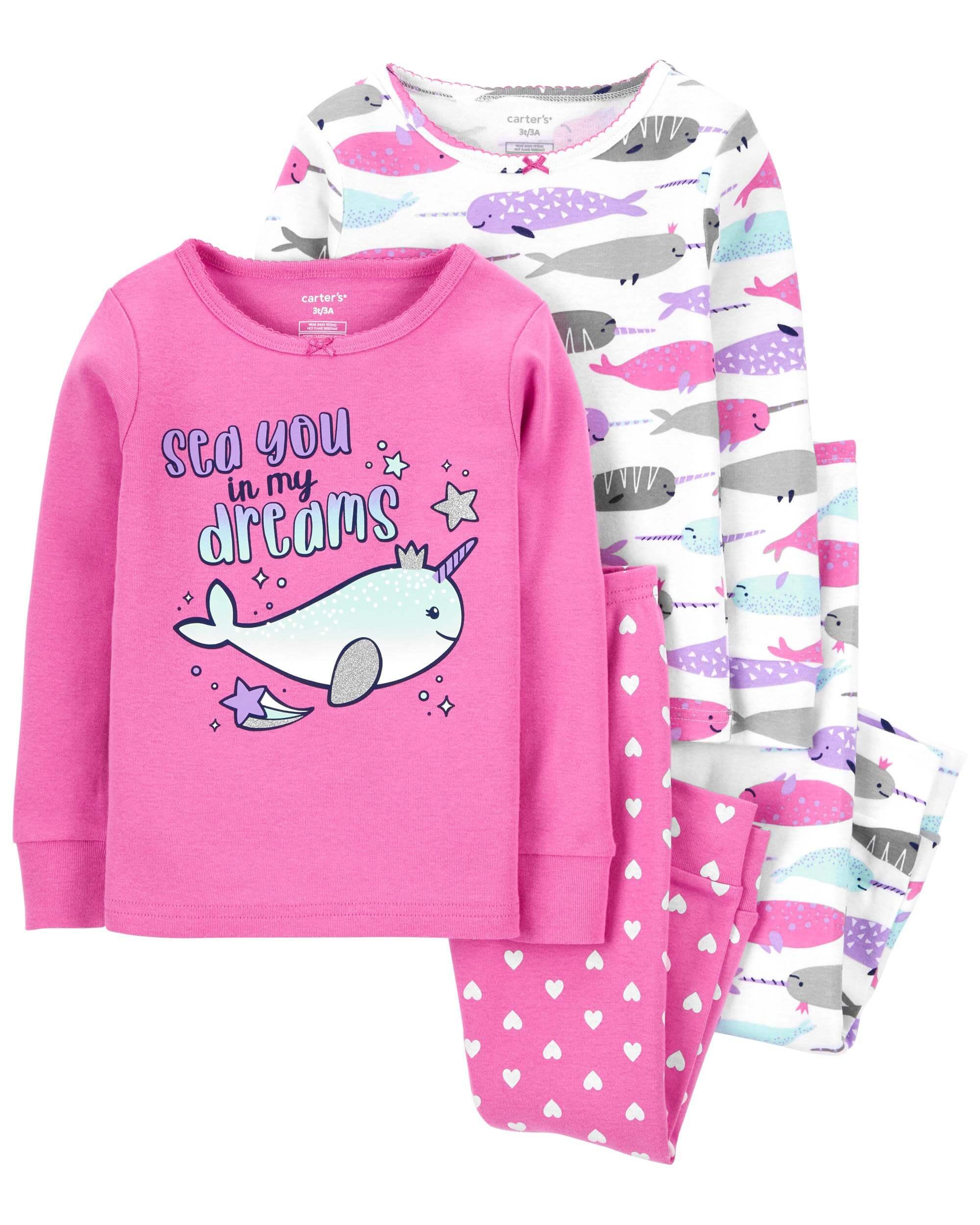 Carter's Set 2 pijamale Narval imagine