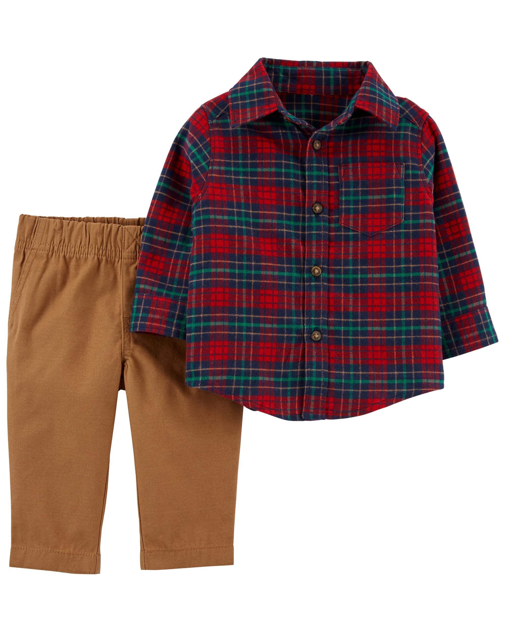 Carter's Set 2 Piese Elegante camasa si pantaloni imagine