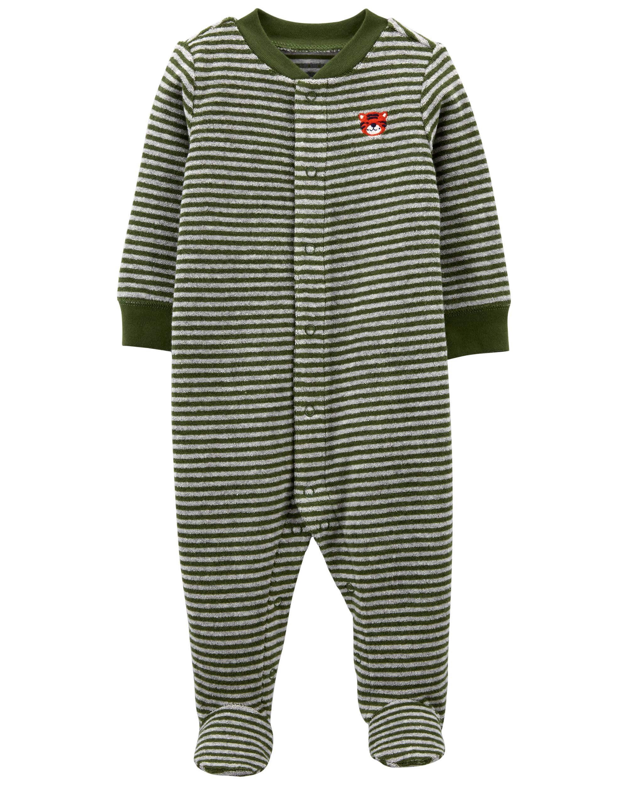 Carter's Pijama bebe cu dungi imagine