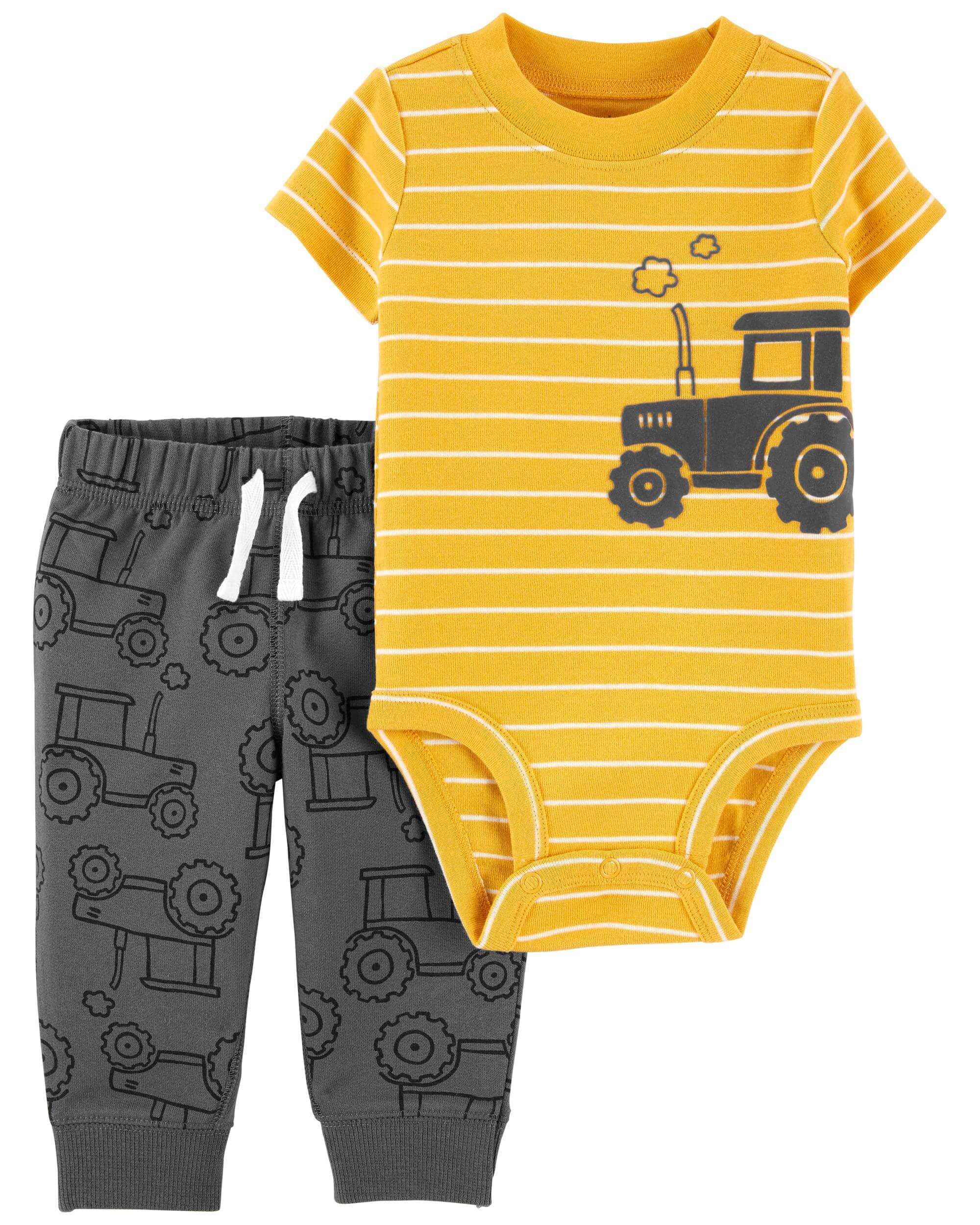 Carter's Set 2 piese body si pantaloni Tractor imagine