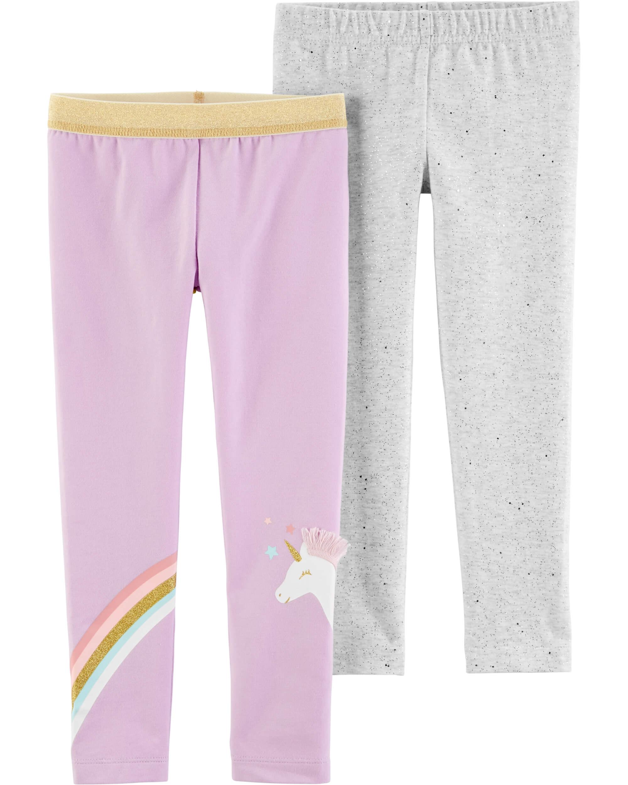 Carter's Set 2 pantaloni, unicorn imagine