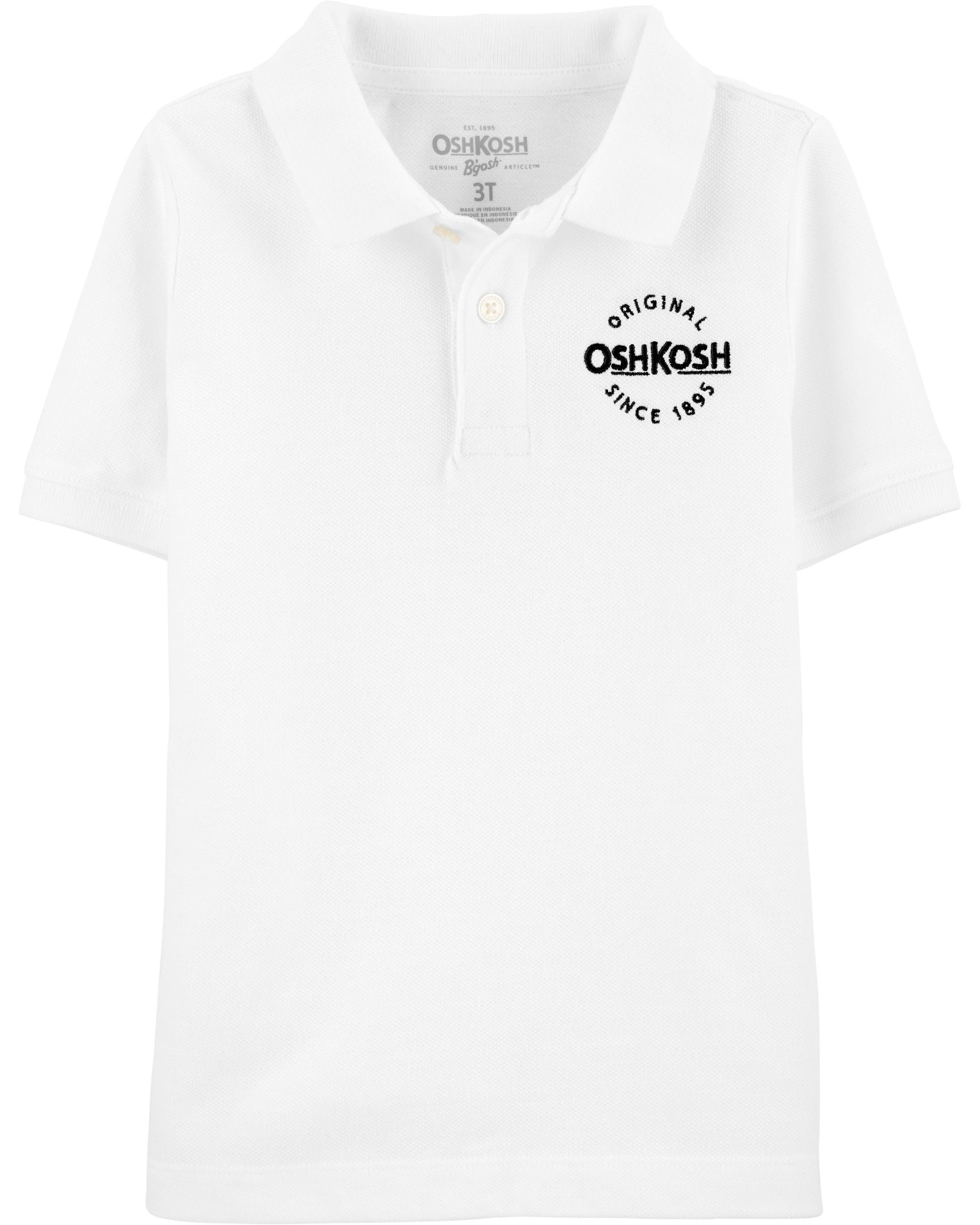 OshKosh Tricou tip polo alb imagine