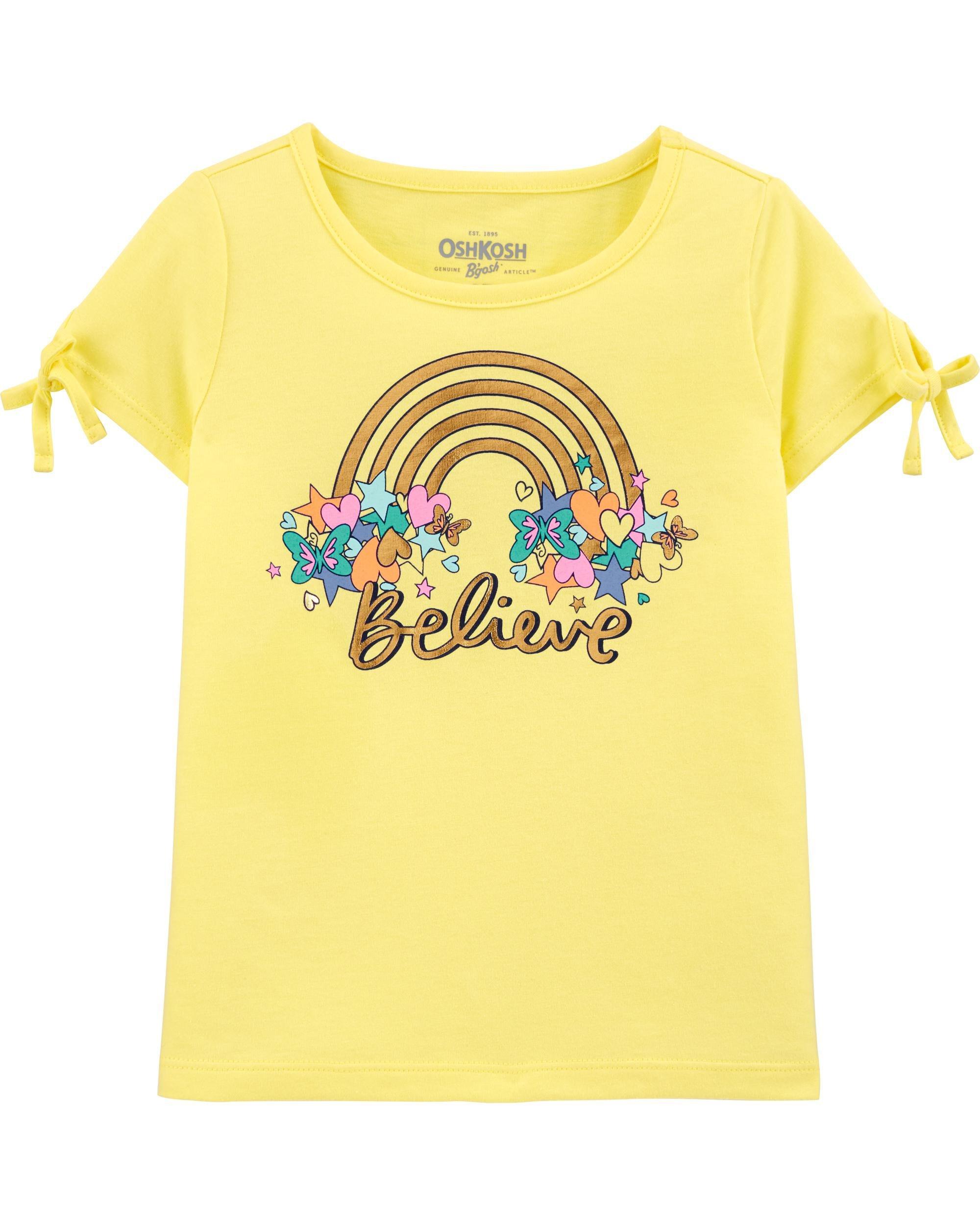 Oshkosh Tricou galben cu curcubeu imagine