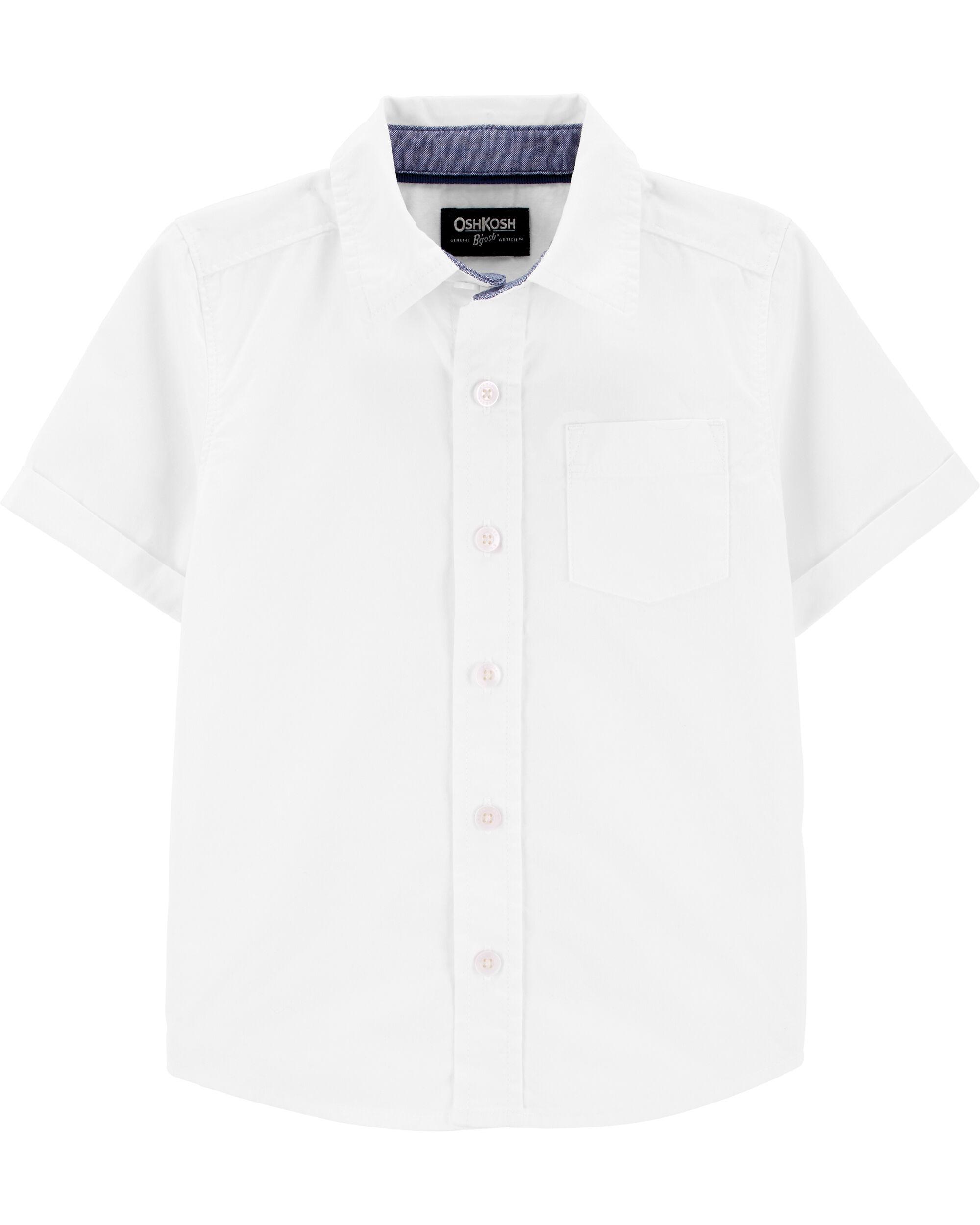 Oshkosh cămașă alba cu maneci scurte imagine