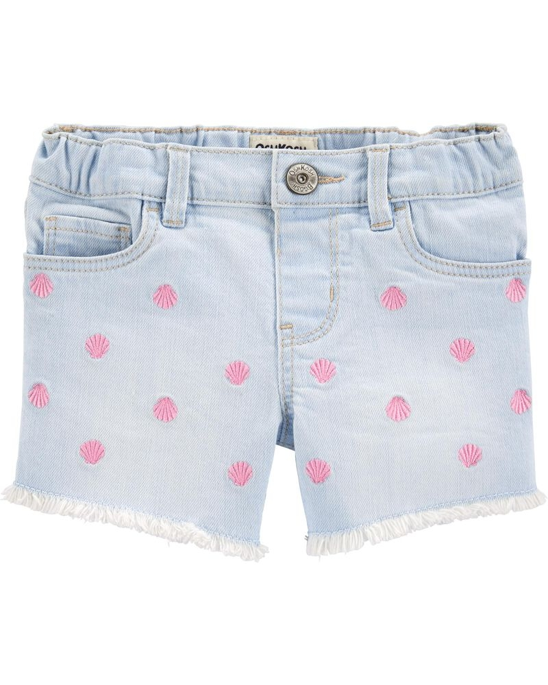 Oshkosh Pantaloni scurți denim cu scoici brodate imagine