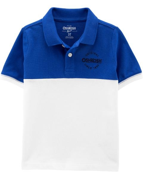 OshKosh Tricou tip polo alb/albastru imagine