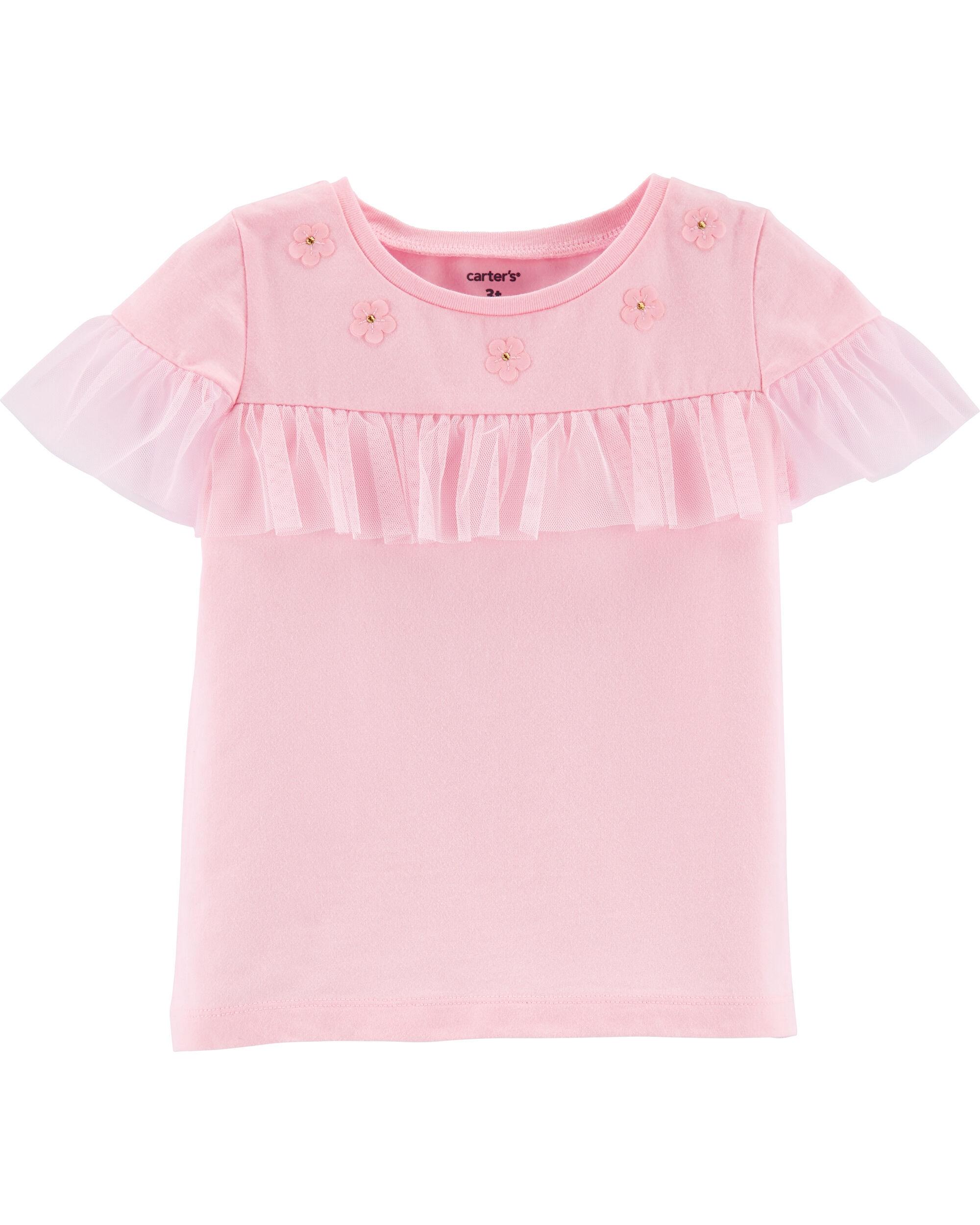 Carter's Tricou cu tulle și floricele imagine