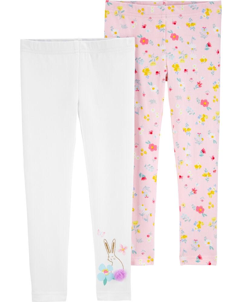 Carter's Set 2 pantaloni iepuras si floricele imagine