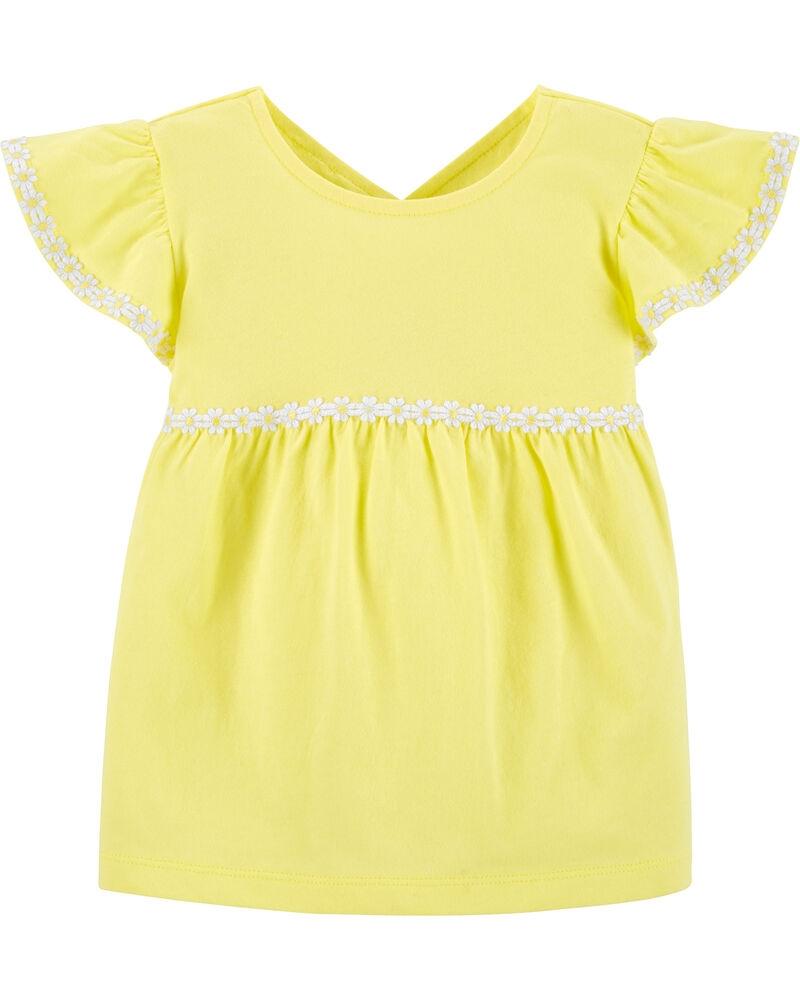 Carter's Tricou galben cu floricele imagine