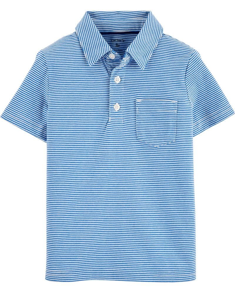 Carter's Tricou tip polo cu dulgi albastre imagine