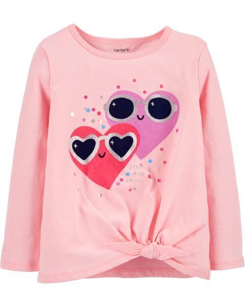 Carter's Bluză cu inimioare imagine