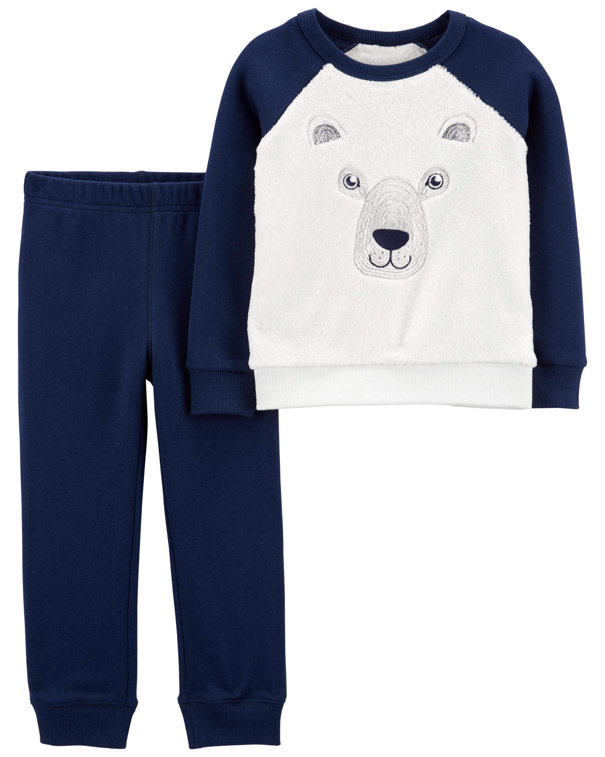 Carter's Set 2 piese bluza si pantaloni Urs polar imagine