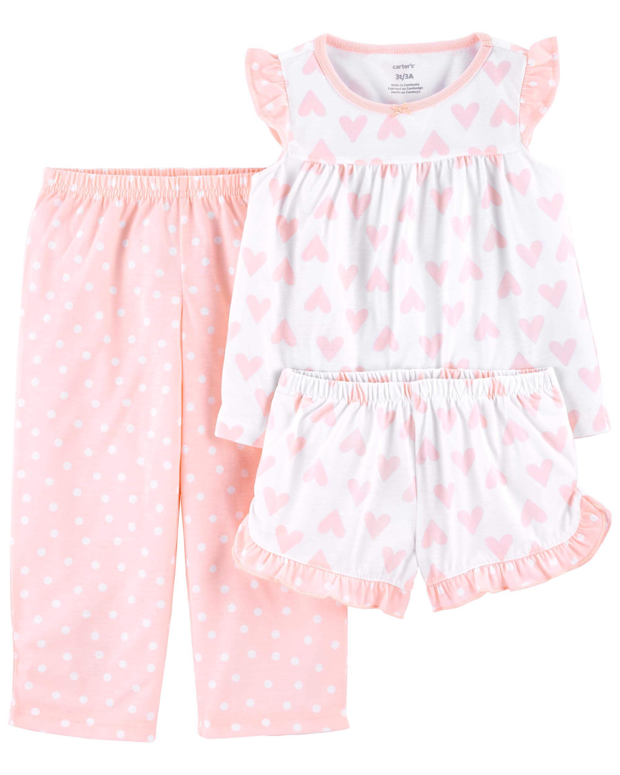 Carter's Pijama 3 piese Inimioare imagine