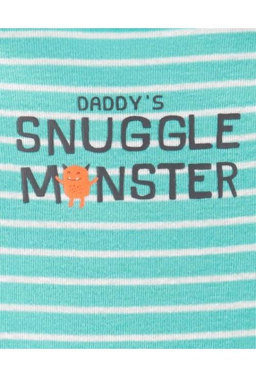 Carter's Set 3 piese Monster pantaloni si doua body-uri