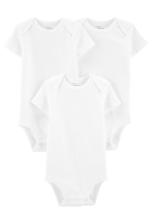 Carter's Set 3 Piese body alb 100% Bumbac Organic