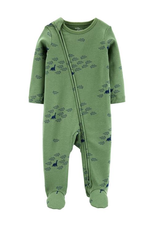 Carter's Pijama cu fermoar reversibil Dinozaur 100% Bumbac Organic