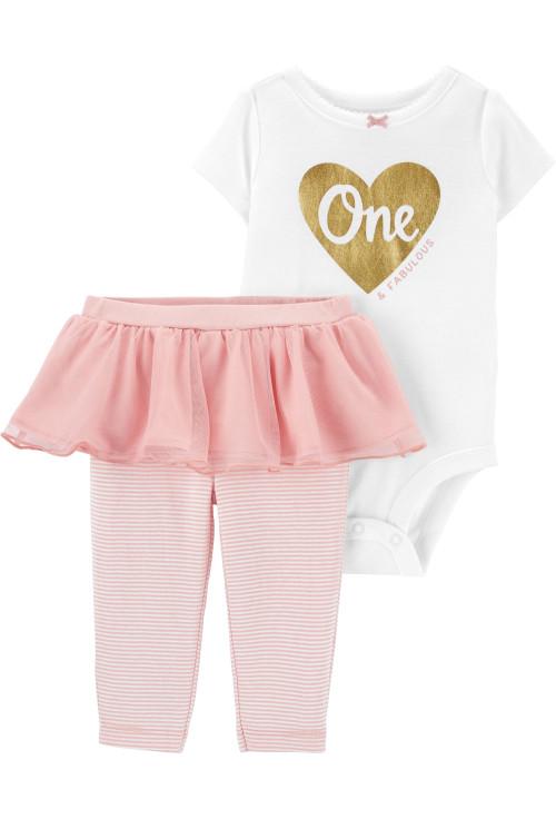 Carter's Set 2 piese bebelus body si pantaloni cu tutu One