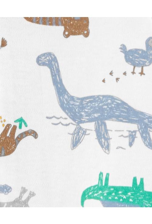 Carter's- Pijama bebe cu fermoar reversibil Dinozauri