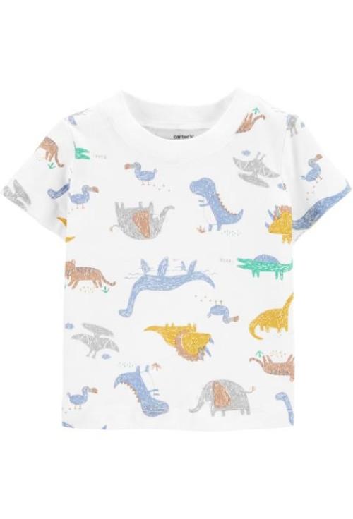 Carter's Set 2 piese tricou si salopeta Dinozaur