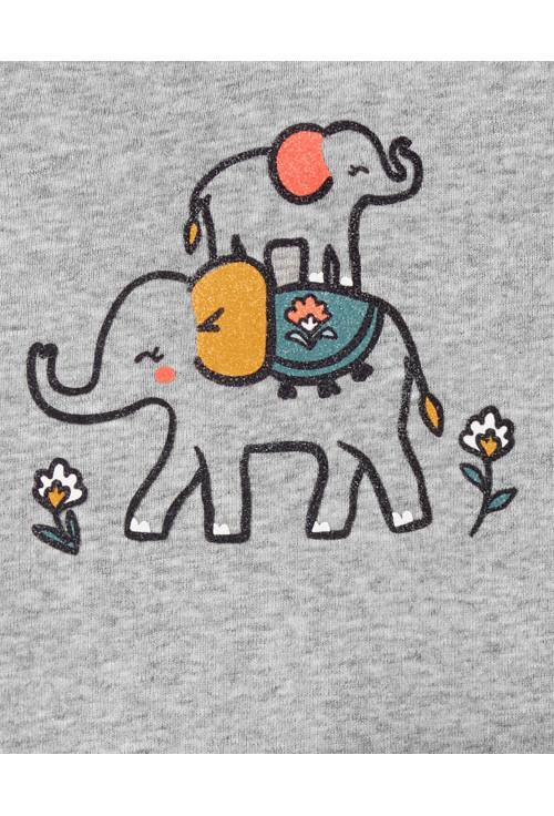 Carter's Set 3 Piese bebelus 2 body si pantaloni Elefant