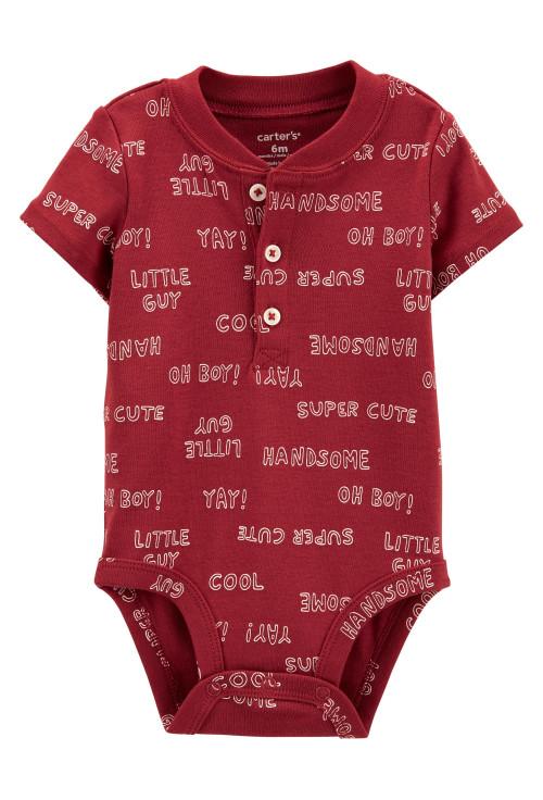 Carter's Body bebe cu nasturi si text