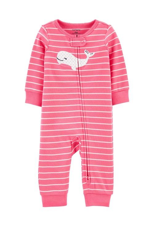 Carter's Pijama roz Balena