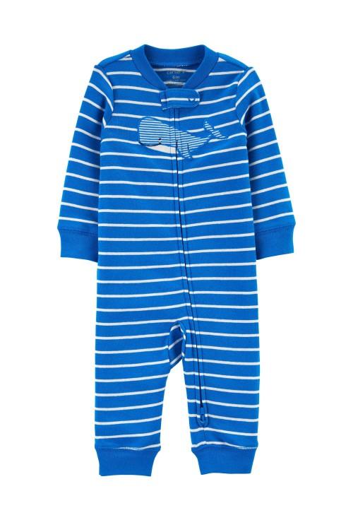 Carter's Pijama cu fermoar reversibil Balena