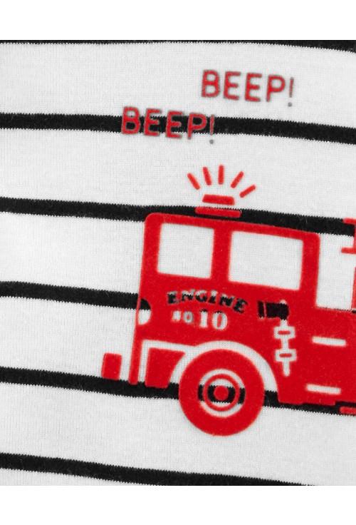 Carter's Salopeta de vara Masina de pompieri