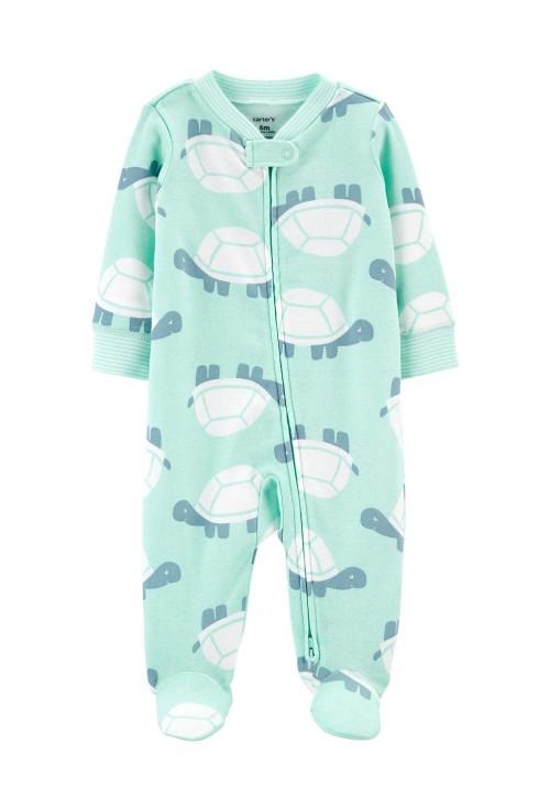 Carter's Pijama cu fermoar reversibil Testoasa