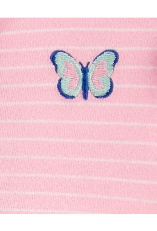 Carter's Set 2 piese salopeta si rochita Fluturi