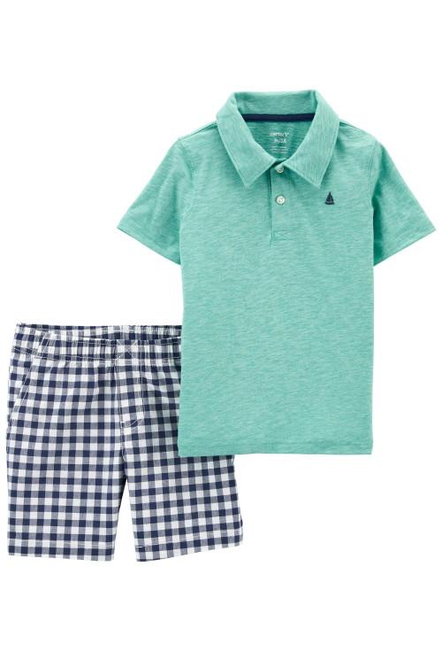 Carter's Set 2 piese tricou si pantaloni scurti