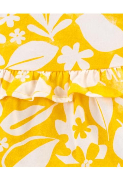 Carter's Set 3 piese body tricou si pantaloni scurti floral