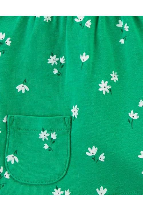 Carter's Set 3 piese body tricou si pantaloni scurti Flori