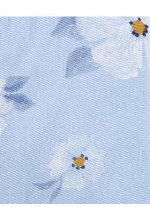 Carter's Set 2 piese salopeta si bluza Flori