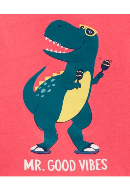 Carter's Set 2 piese maiou si pantaloni scurti Dinozaur