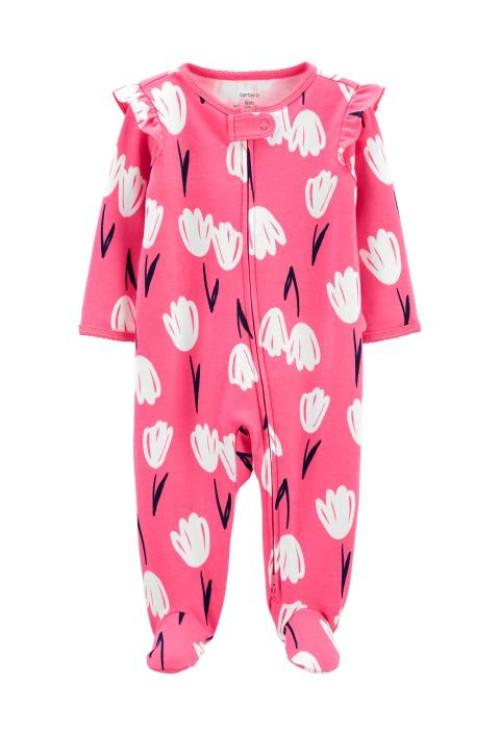 Carter's Pijama cu fermoar reversibil Lalele